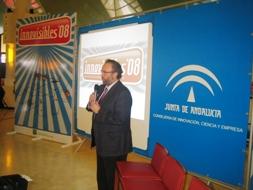El delegado de Innovación de Jaén en el acto de inauguración