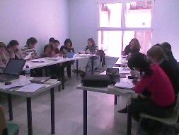 Participantes durante el taller