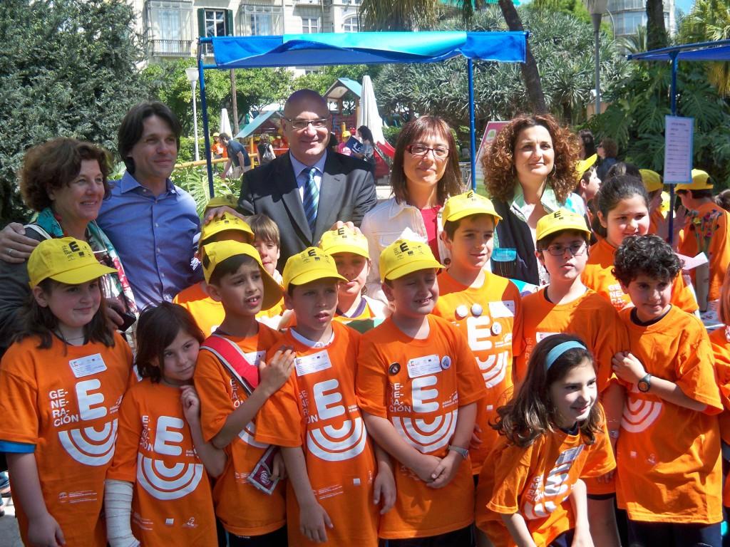 La delegada del Gobierno, María Gámez; la delegada de Economía, Pilar Serrano; y el delegado de Educación, Antonio Escámez