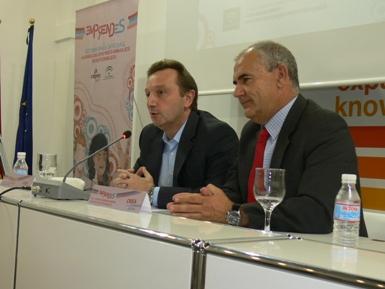 Manuel Recio y Antonio Romero en la inauguración de las jornadas formativas