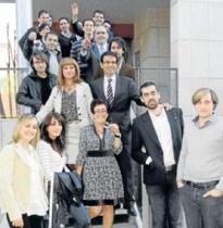 Entrega de llaves a las empresas alojadas en el PTS de Granada el pasado noviembre