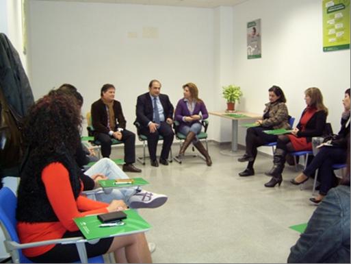 Durante el encuentro con los emprendedores