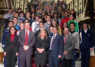 El consejero de Empleo con los participantes en la II edición de 'Ciencia Innovadora, Ciencia Emprendedora'