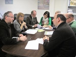 Durante la presentación del Plan Provincial de los CADEs de la provincia de Jaén durante 2013