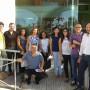 Los integrantes de la segunda Lanzadera de Almería con representantes de Coexphal.