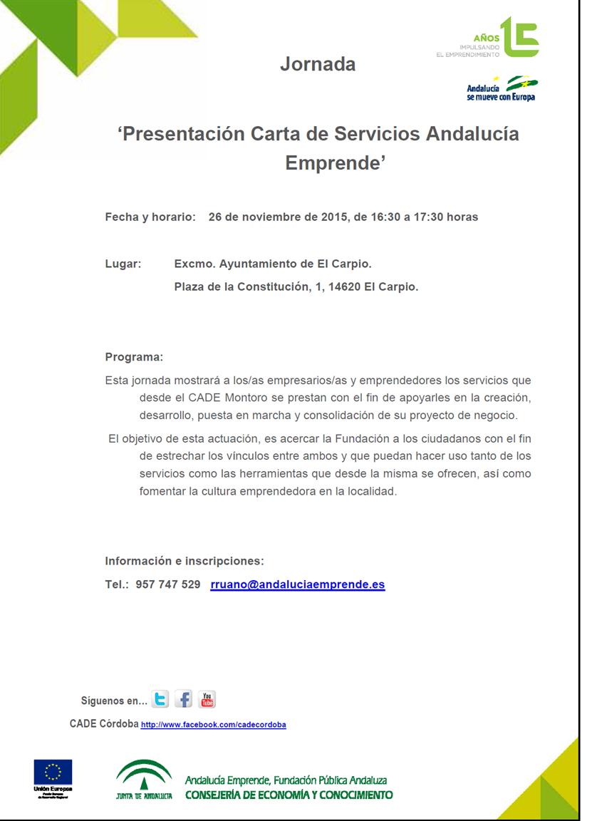 Jornada Presentacion Carta De Servicios Andalucia Emprende