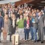 El delegado de Economía y el resto de autoridades, con los premiados y los finalistas de la III edición de los Premios Andalucía Emprende en Málaga.