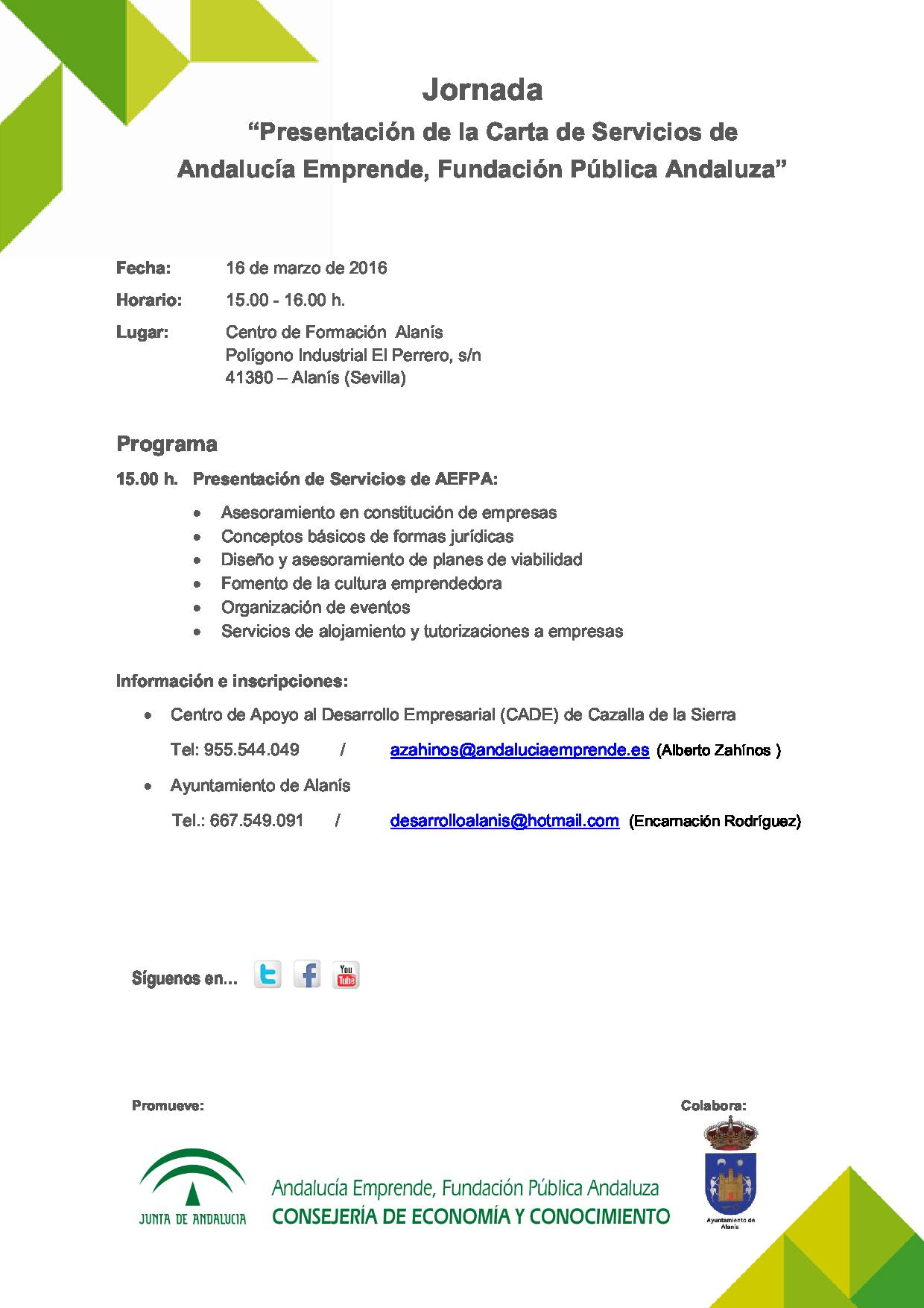 Jornada Presentacion De La Carta De Servicios De Andalucia