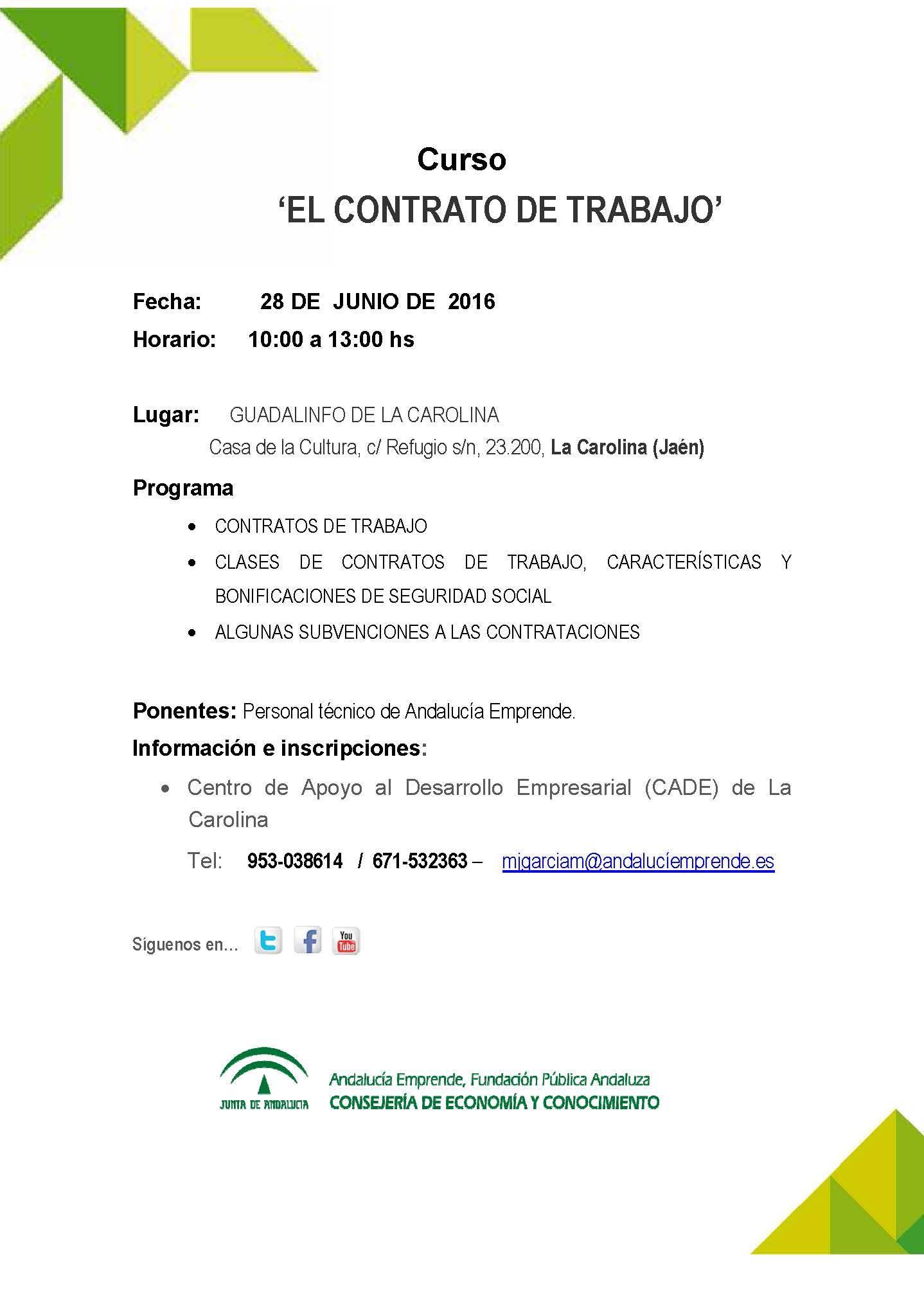 El contrato de trabajo andaluc a emprende fundaci n for Contrato trabajo