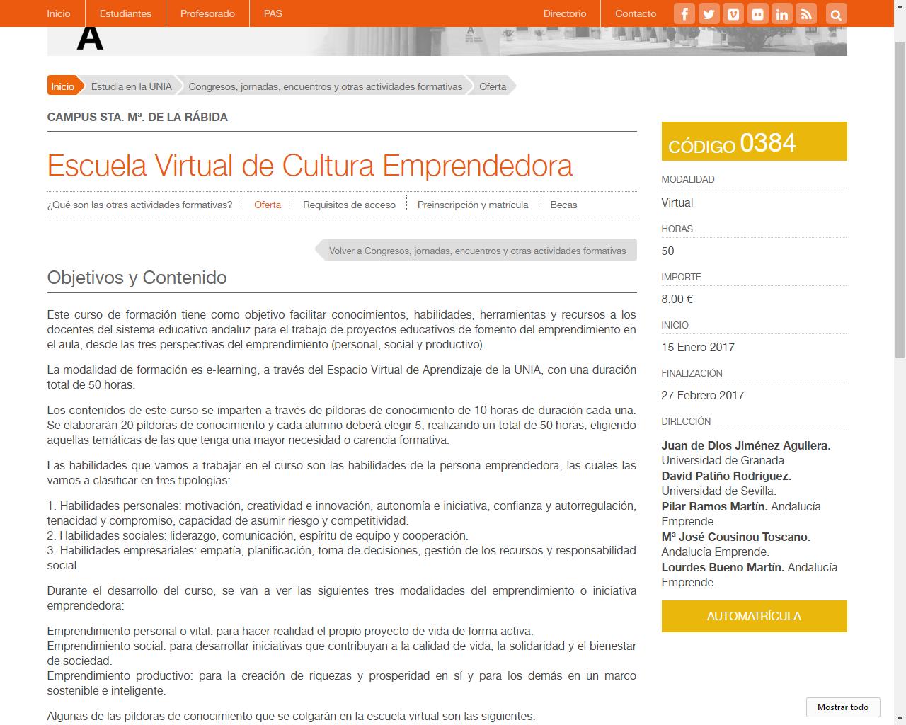 20170113 NP Escuela Virtual Cultura Emprendedora