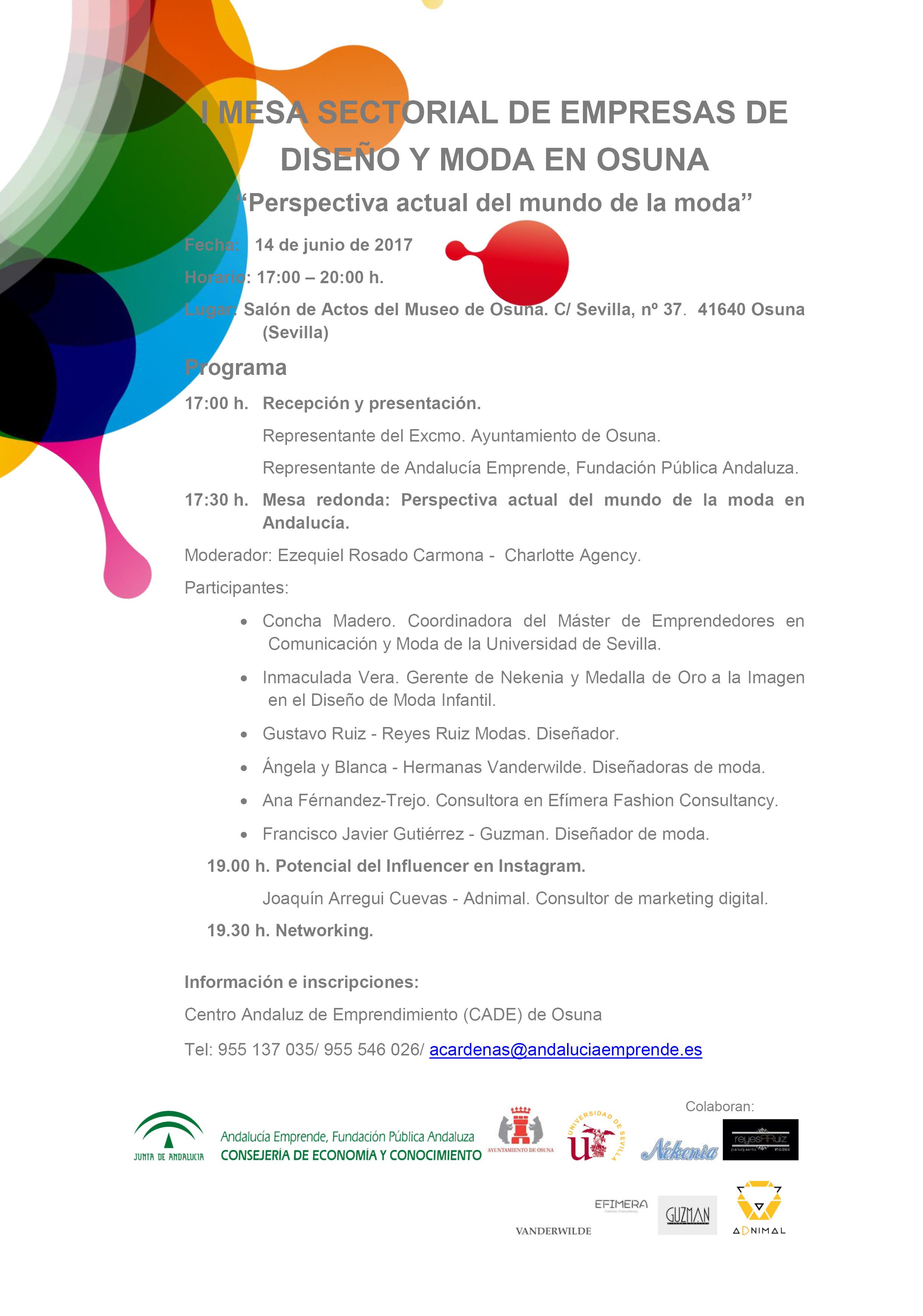 I mesa sectorial de empresas de dise o y moda en osuna - Empresas de diseno ...