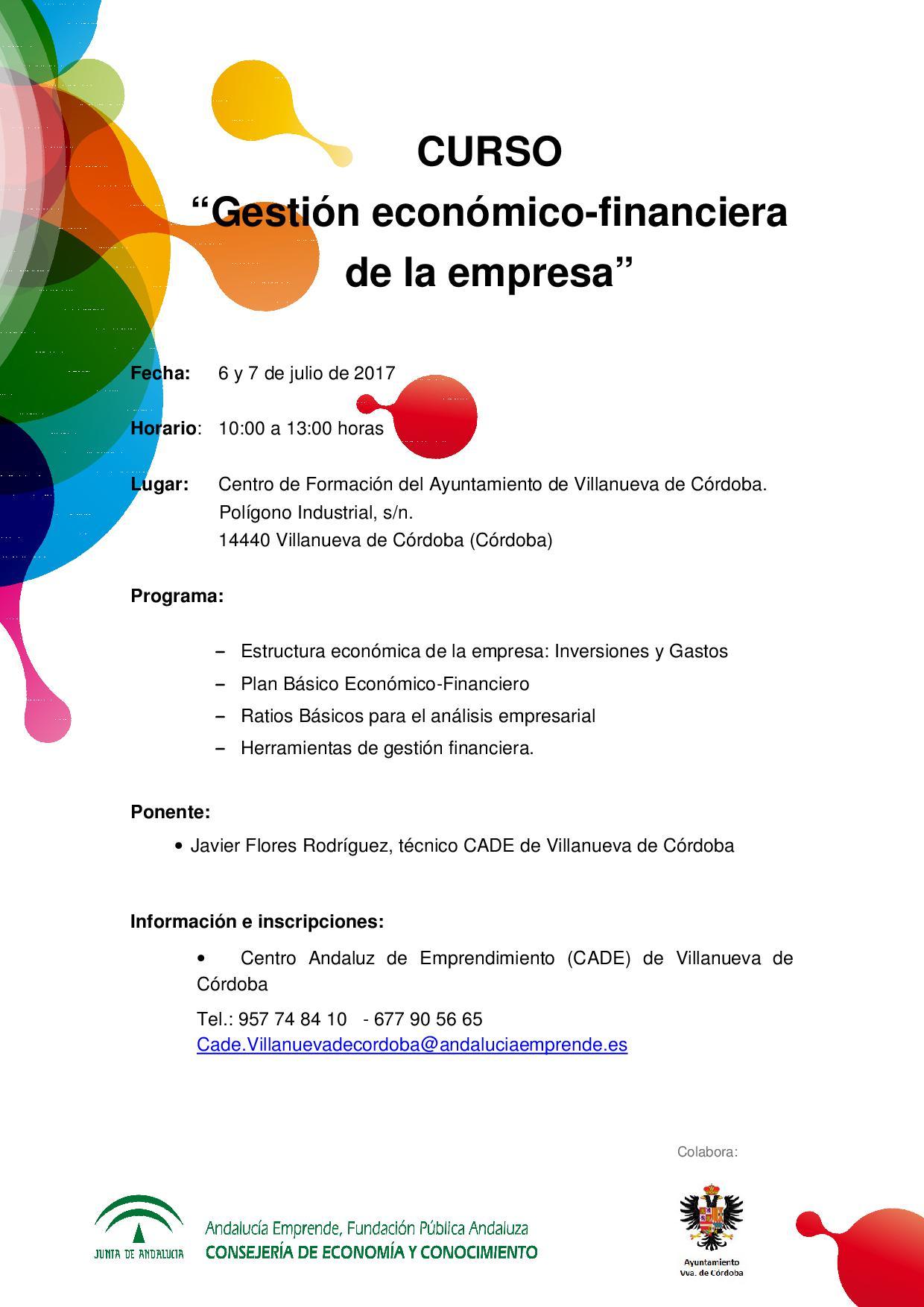 Gestión Económico Financiera De La Empresa Andalucía