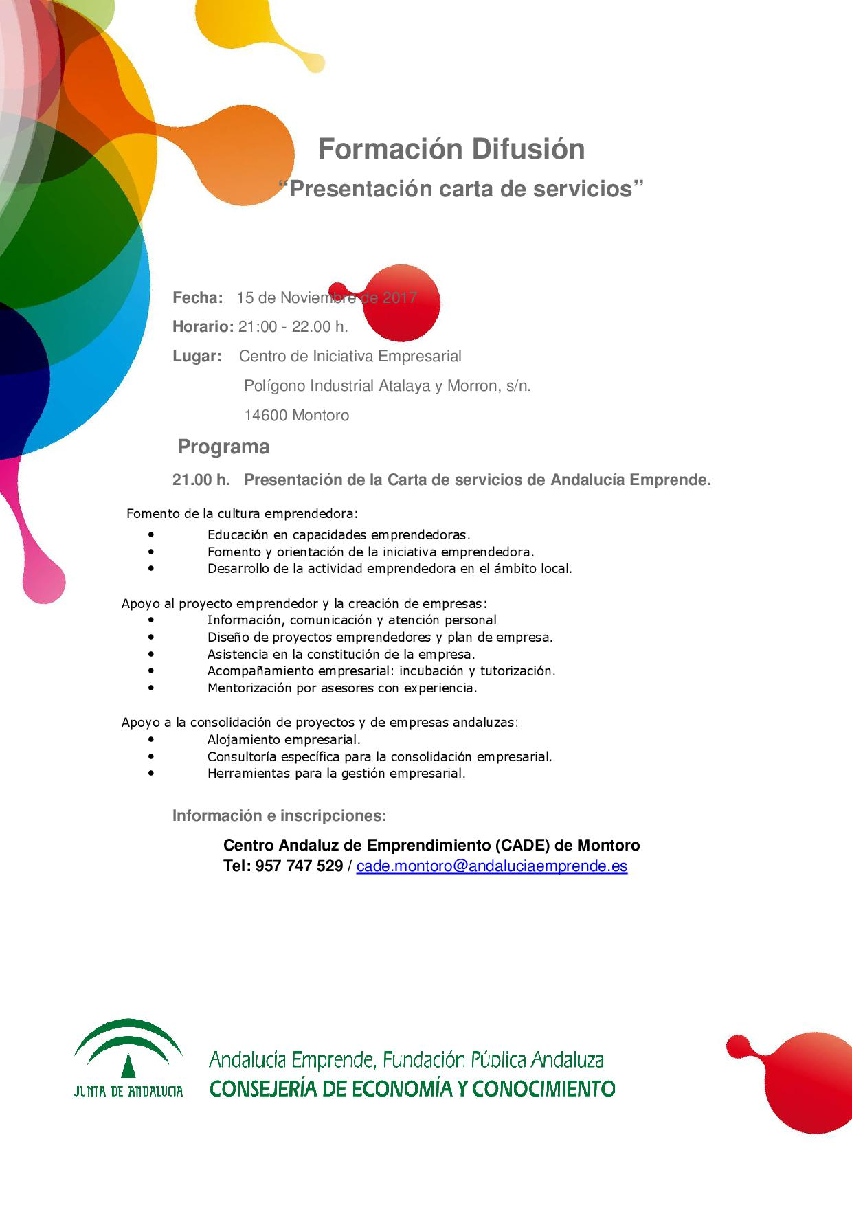 Presentacion Carta De Servicios Andalucia Emprende