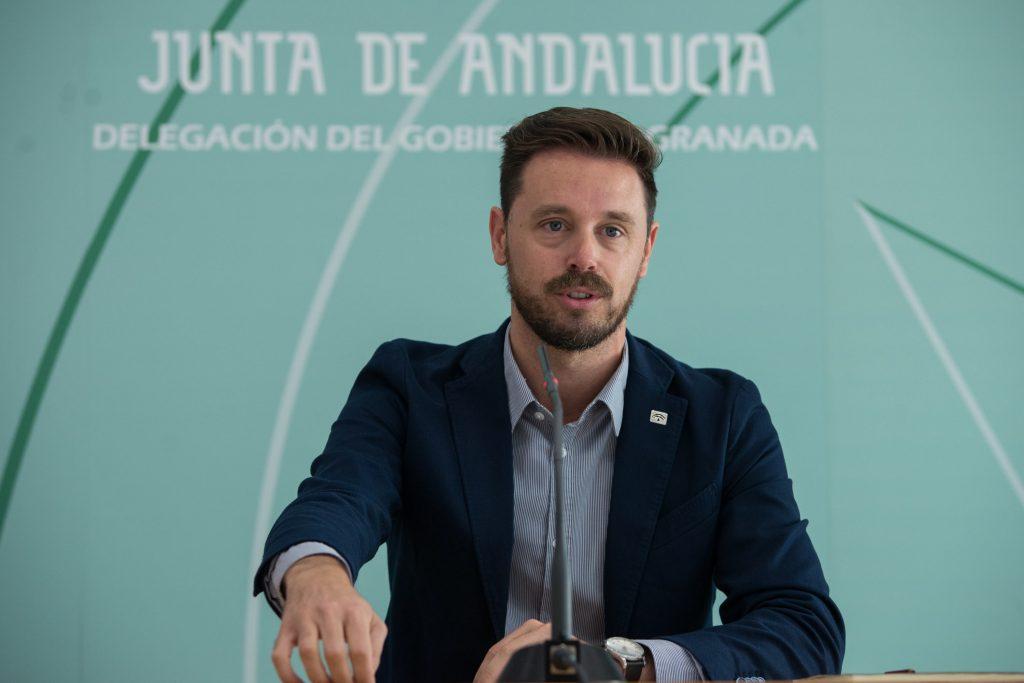 El delegado territorial de Economía, Juan José Martín Arcos, durante la presentación de balance