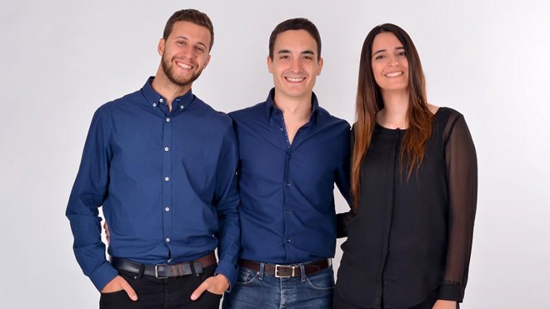 Alberto Portillo, Rubén Rubiales e Inma Santiago, equipo Lesielle
