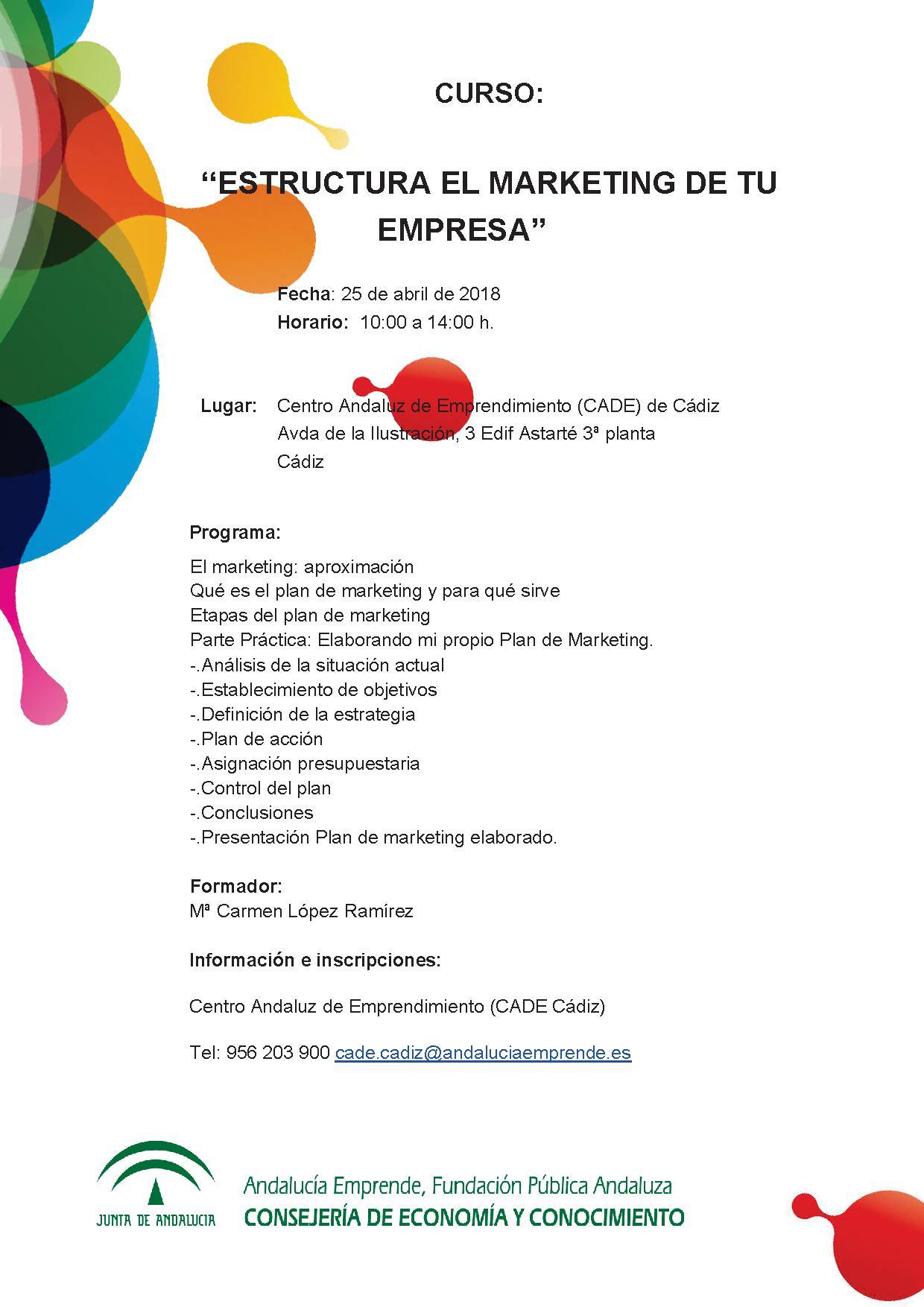 Estructura El Marketing De Tu Empresa Andalucía Emprende