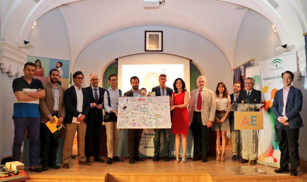 Finalistas y ganadores de la fase provincial la IV edición Premios Andalucía Emprende en Córdoba