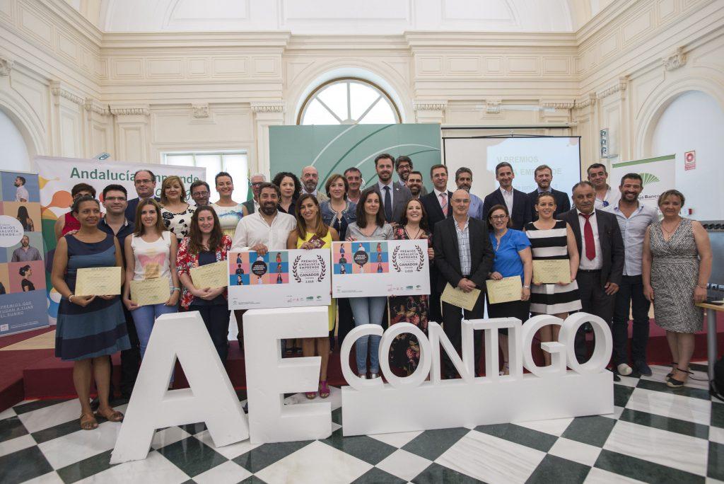 Ganadores y finalistas de la V edición Premios Andalucía Emprende en Granada