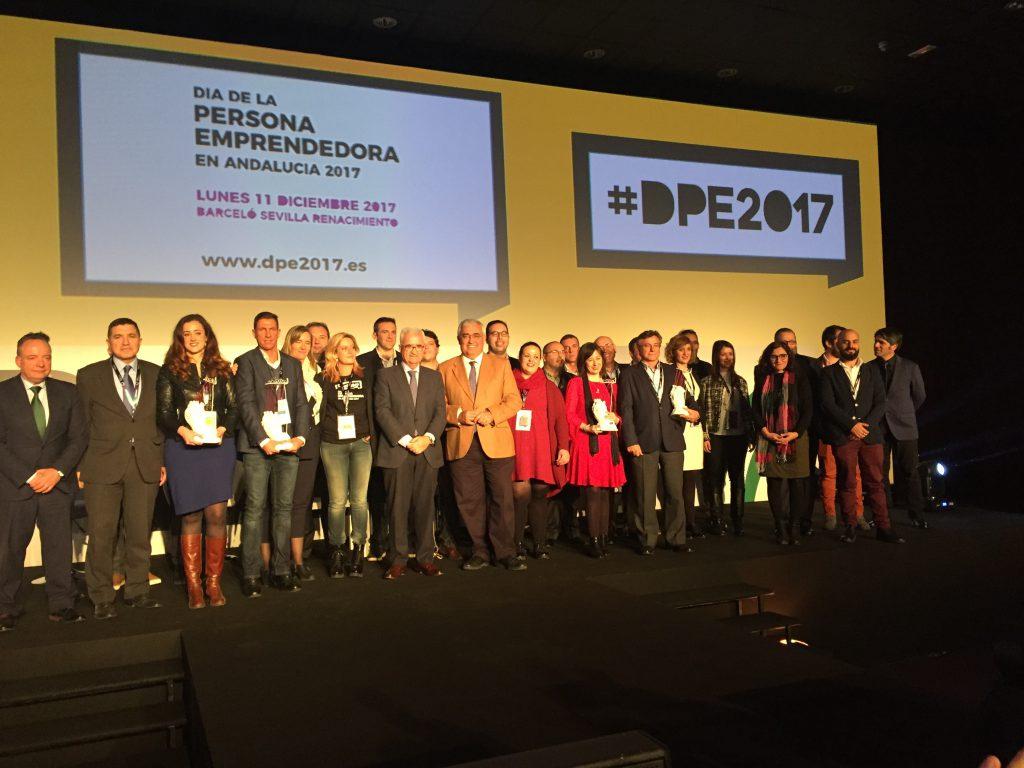 Finalistas y ganadores en la IV edición de los Premios Andalucía Emprende