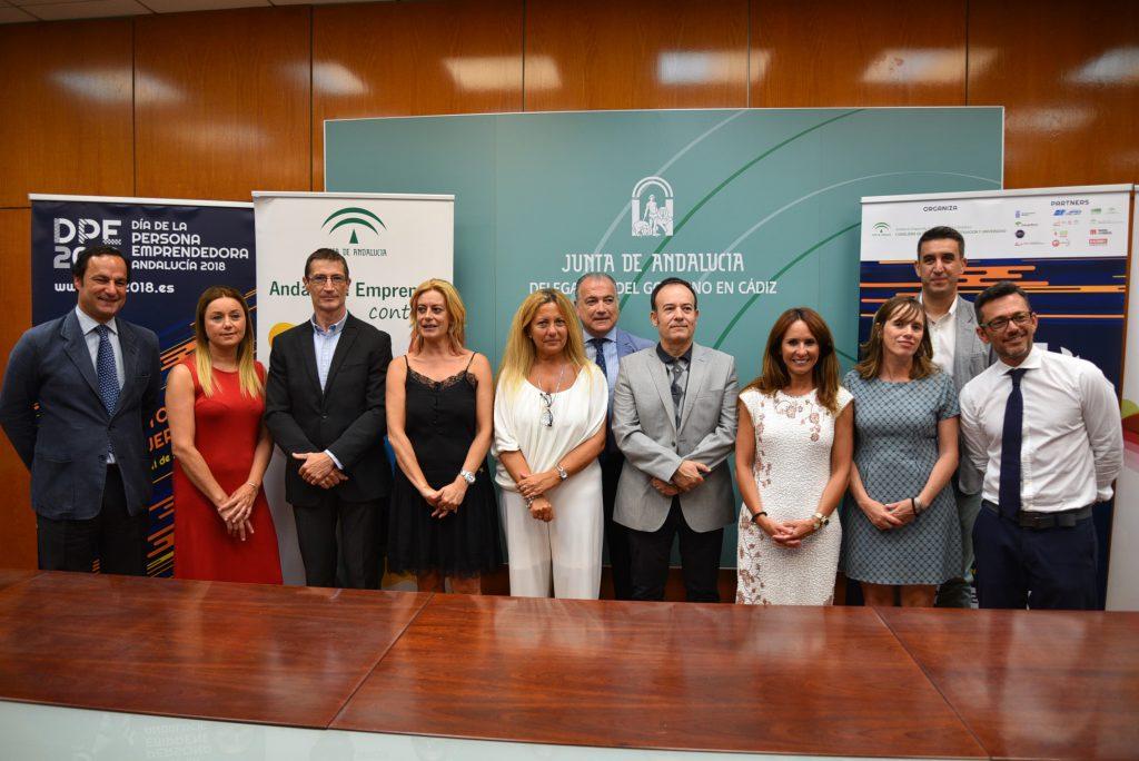 Un momento durante la presentación en rueda de prensa del Día de la Persona Emprendedora en Andalucía 2018