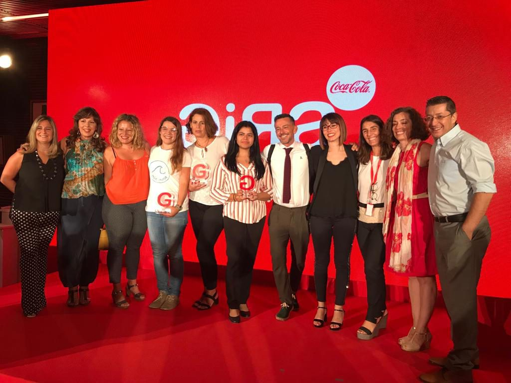 Ganadoras y entidades en la gala final de la II edición GIRAMujeres Coca-Cola