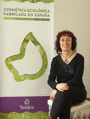 Rosa, una de las promotoras de Yeidra Cosmética Ecológica