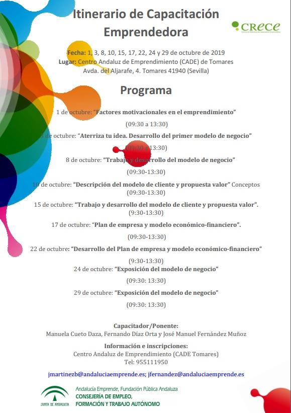 Itinerario De Capacitación Emprendedora Crece Andalucía