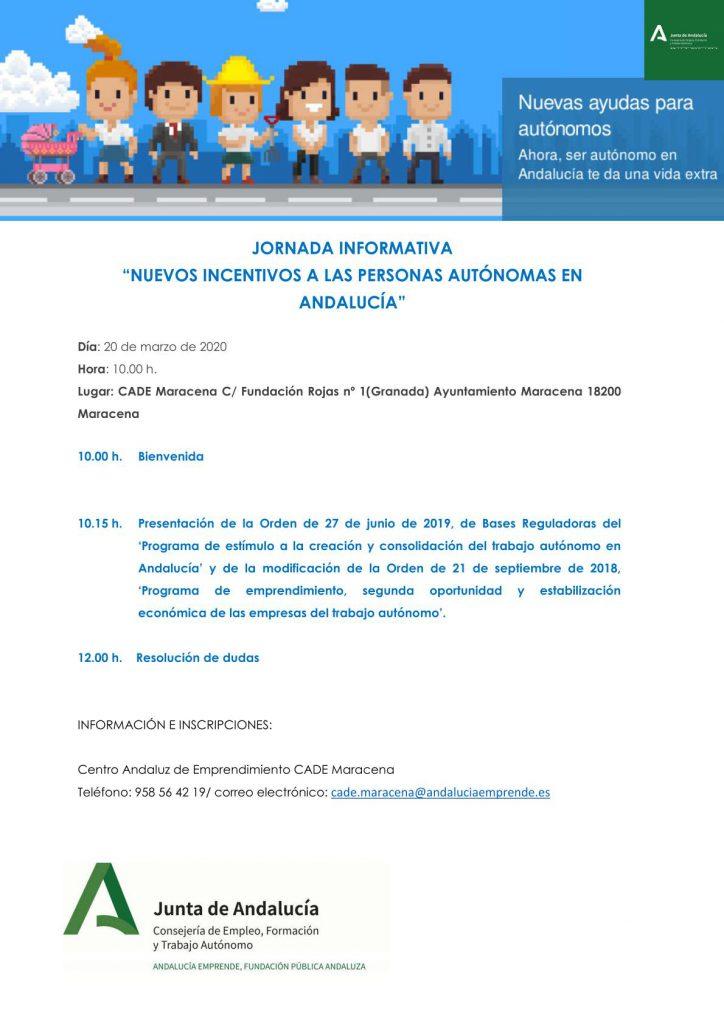Nuevos Incentivos Autónomos Andalucía